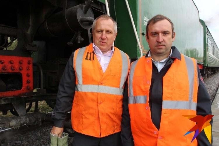 Машинсты и старшие помощники машинистов для паровозов специально обучались три месяца в Курске