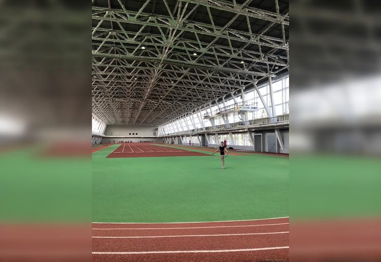 В спорткомплексе переоборудовали легкоатлетический манеж