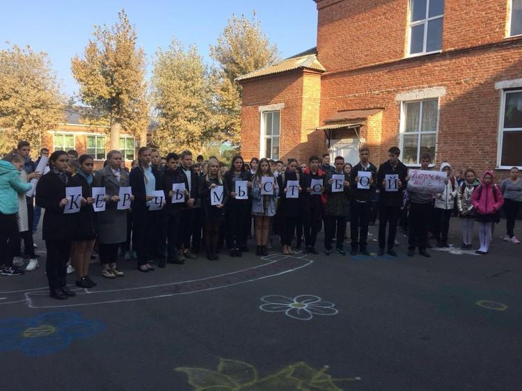 В школе, где учился Алексей провели траурный митинг Фото: из личного архива Валентины Боровик