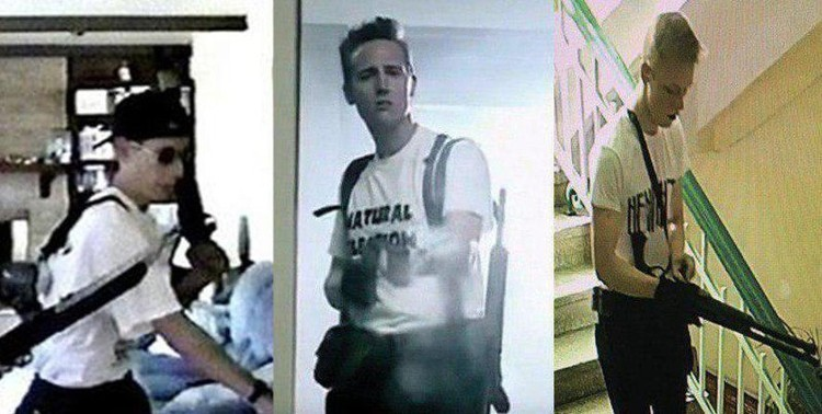 Росляков состоял в соцсетях в тематических группах, посвященных событиям в школе «Колумбайн». В день трагедии в керченском колледже он даже оделся, как один из американскмх стрелков