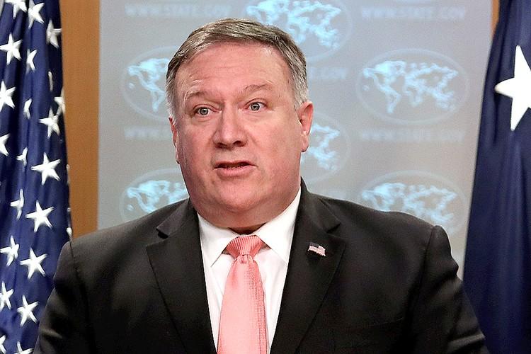 Госсекретарь США Майк Помпео.