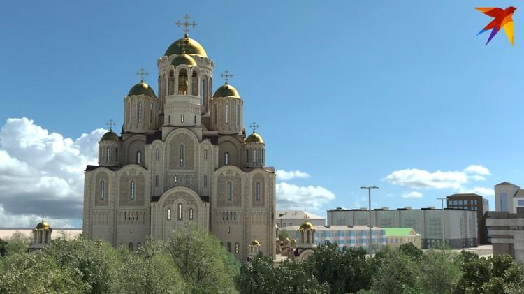 Храм будет рассчитан на 2500 человек. Фото: фонд Святой Екатерины