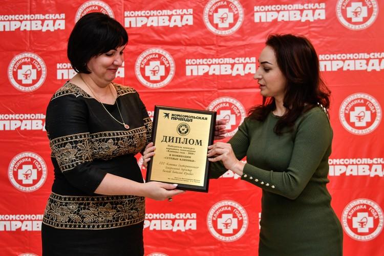 "Клиника ""Екатерининская"" - главврач Селезнева Елена Эдуардовна (слева)"