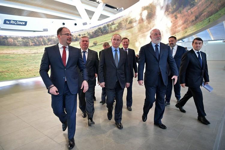 Президент России лично осмотрел воздушную гавань