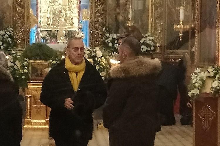 Андрей Кончаловский обвенчался с Юлией Высоцкой 20 января 2019 года в Троицком соборе Пскова. Фото: Псковская лента новостей.