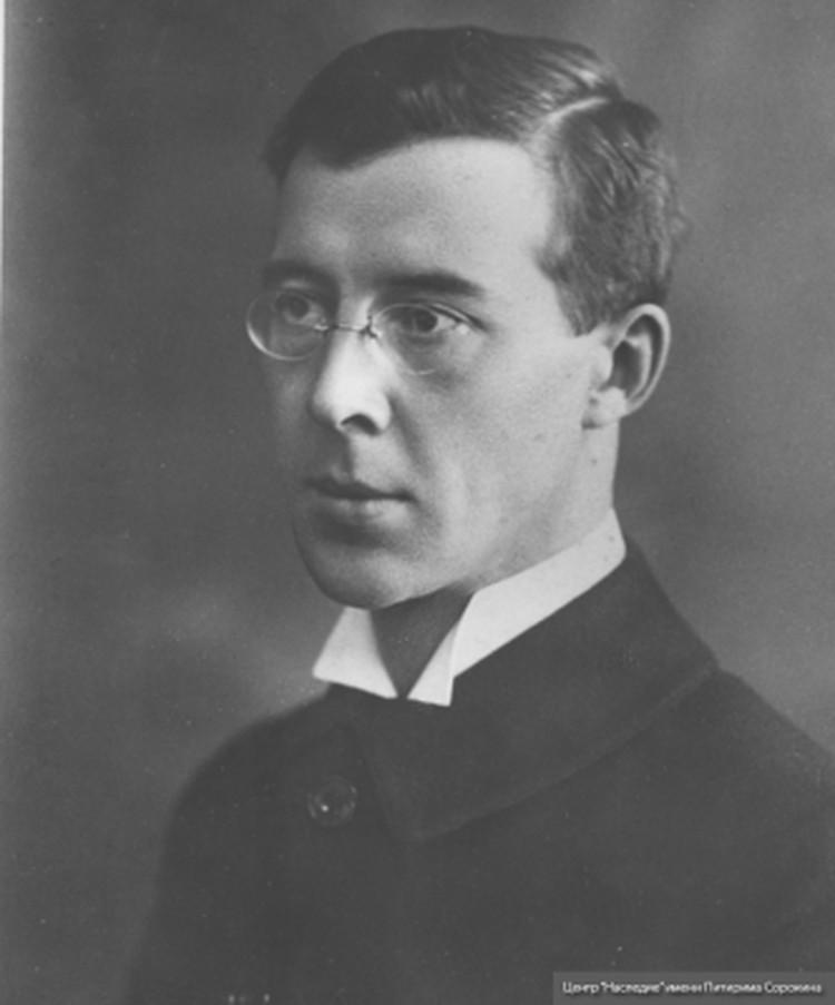 Питирим Сорокин в 1917 году