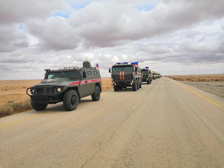 Российская военная полиция обеспечила контроль передвижения конвоя