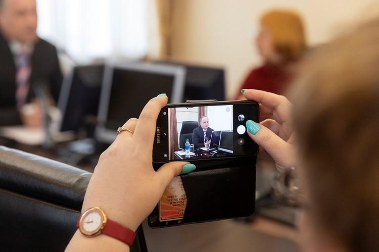 19 февраля состоялась первая пресс-конференция и.о.мэра Владивостока Олега Гуменюка