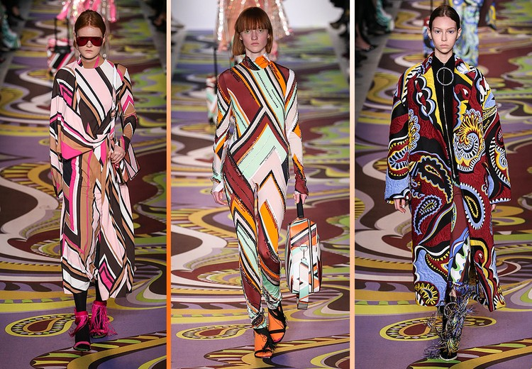 Бренд Pucci известен своими коллекциями с яркими цветными узорами.
