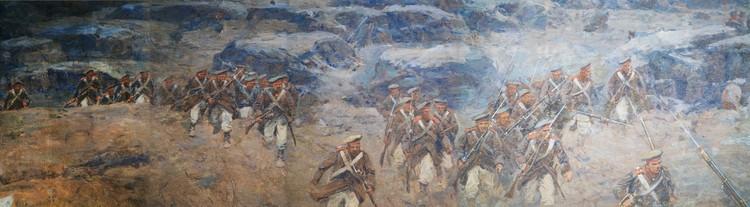 На реставрацию фрагментов панорамы потратят порядка 9 миллионов рублей. Фото: пресс-служба музея-панорамы «Бородинская битва»