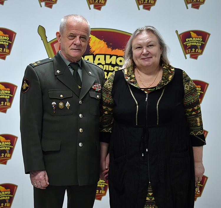 Полковник Владимир Квачков с женой