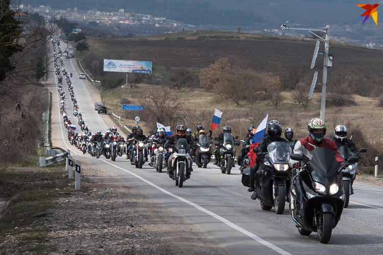 Колонна состояла из 2 тысяч мотоциклов