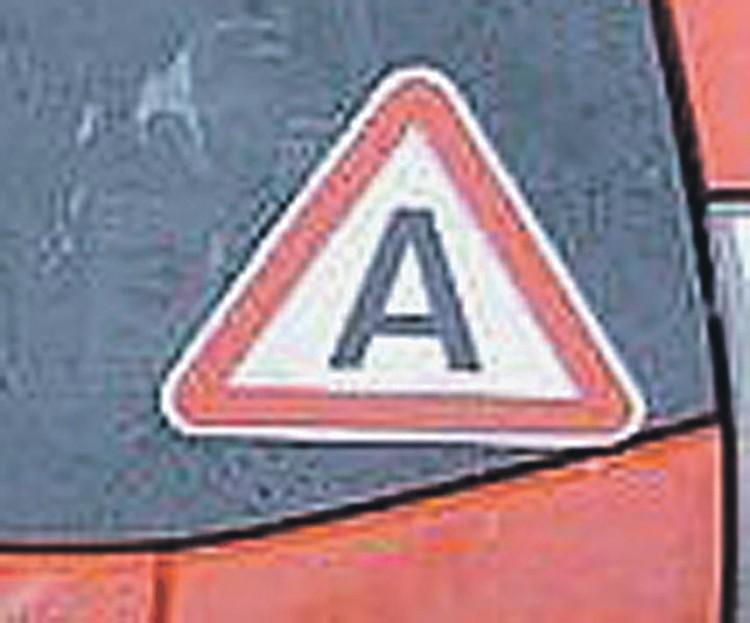 Такой знак будет на заднем стекле беспилотников, которые выйдут на дороги Москвы. Фото: Автонет