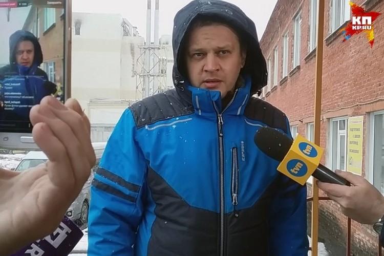 Игорь Востриков в первые дни после трагедии.