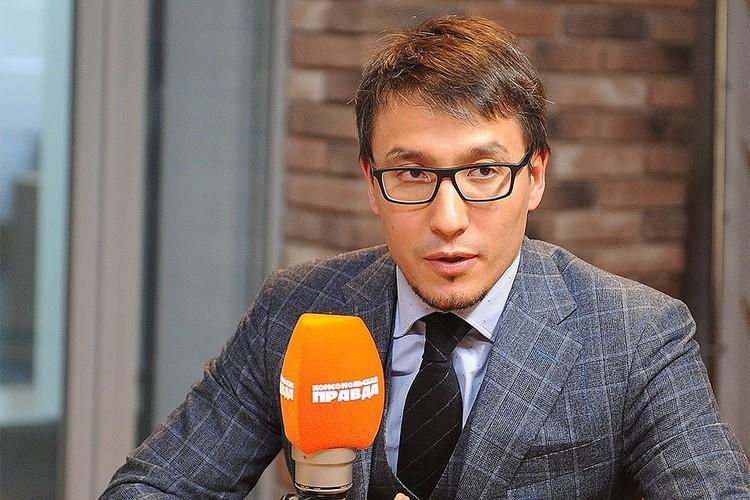 Дмитрий Абзалов в прямом эфире радио `Комсомольская правда`.