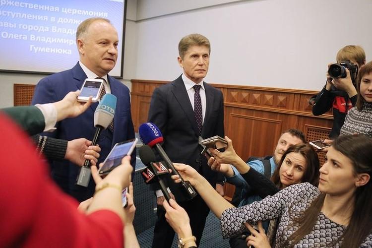Мэр Владивостока и губернатор Приморья отвечают на вопросы журналистов