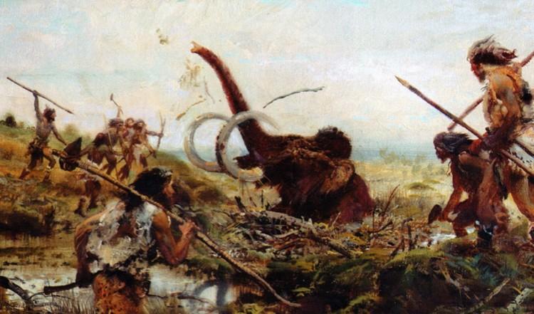 Гипотеза о том, что неандертальцы охотились на мамонтов, считается сейчас весьма спорной.