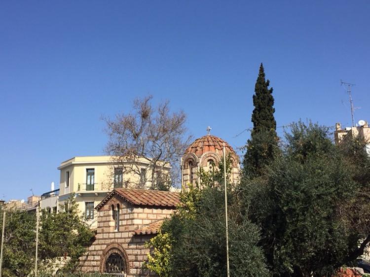 Византийские храмы в центре Афин