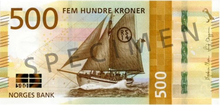 Норвежская купюра в 500 крон заняла третье место