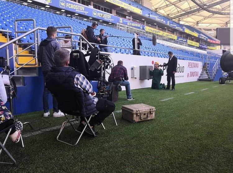 Съёмочный процесс длился около 15 часов. Фото: инстаграм sportin.stadium