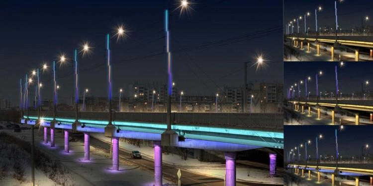 Подсветка мостов и развязок.