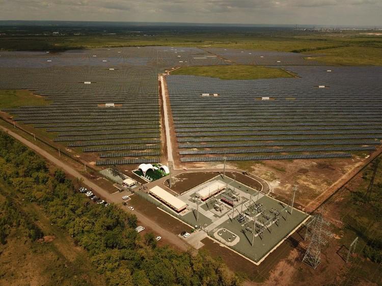 Солнечная станция расположилась под Новокуйбышевском на территории площадью 220 га