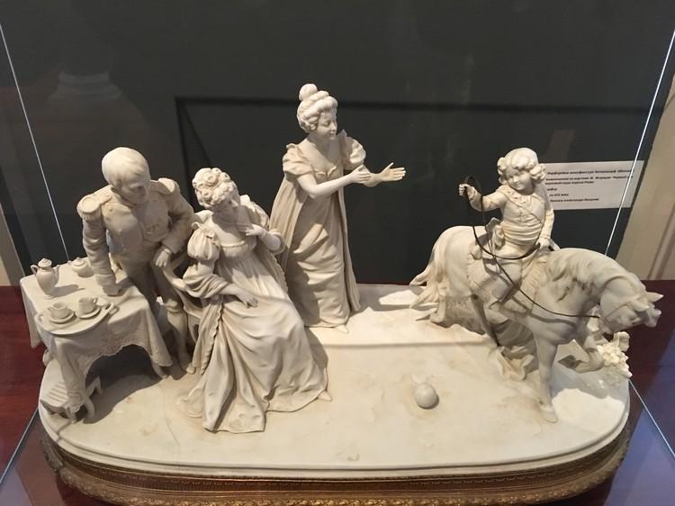 """Композиция по картине Жирарде """"Первый урок верховой езды короля Рима"""". Из собрания Александра Вихрова. Фото автора."""
