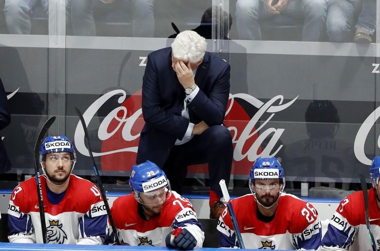 Наставник сборной Чехии был сдержанным на эмоции иногда.