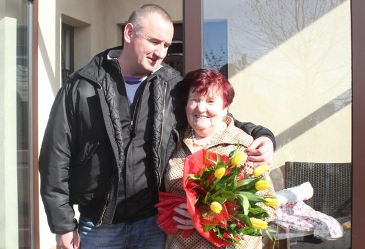 Ежи Тыц с мамой Хеленой Галонской.