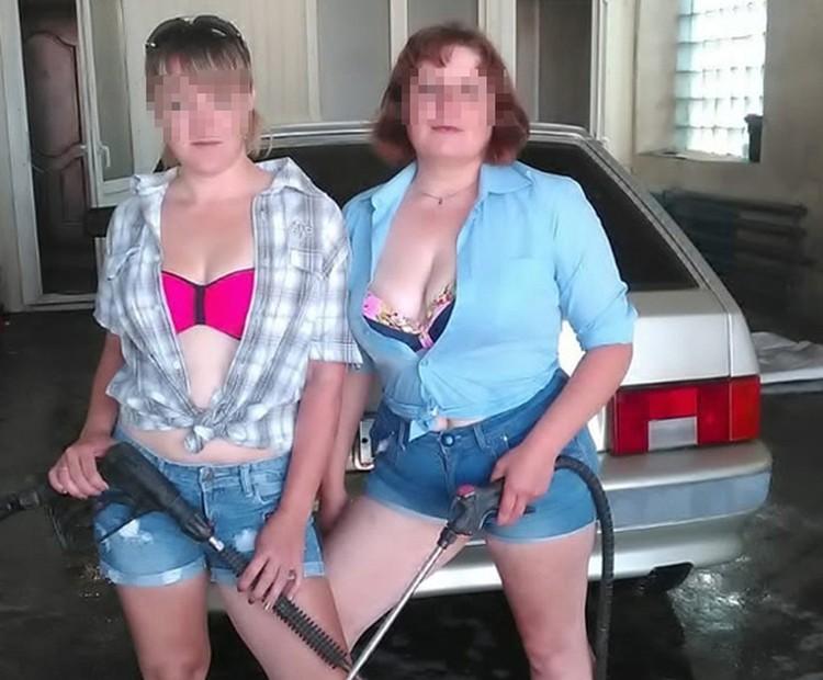 Вот такие задорные автомойщицы. Фото: vk.com/public65169224