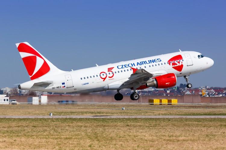 Самолет чешской авиакомпании Czech Airlines.