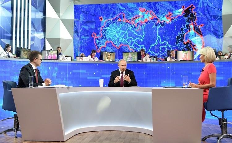 Президент поговорил с россиянами в прямом эфире и составил список поручений чиновникам