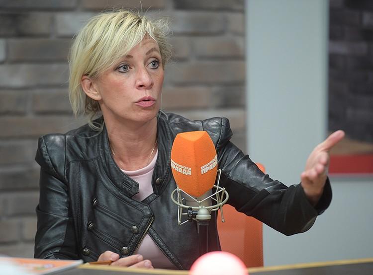 """Мария Захарова в студии Радио """"Комсомольская правда"""""""