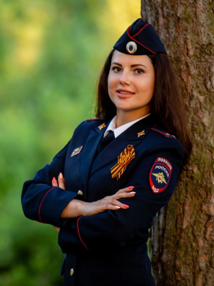 Старший лейтенант Ольга Бортулева. Фото: пресс-служба УМВД России по Брянской области.
