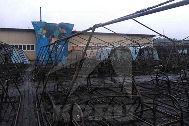 Из 26 палаток сгорели 20, в момент возгорания в палаточном городке находились 189 детей