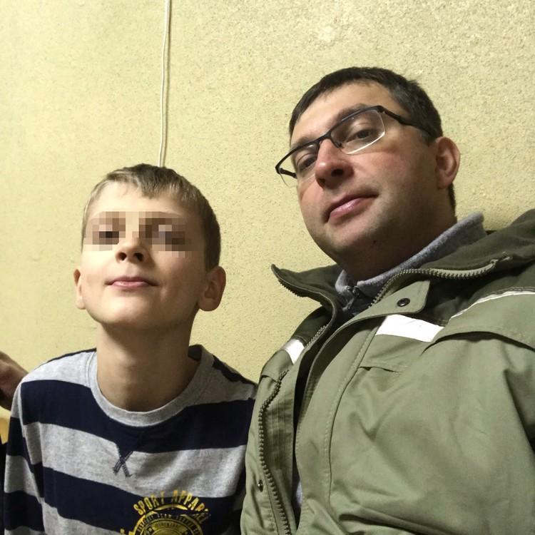 Леша Мартыненко и его папа Иван