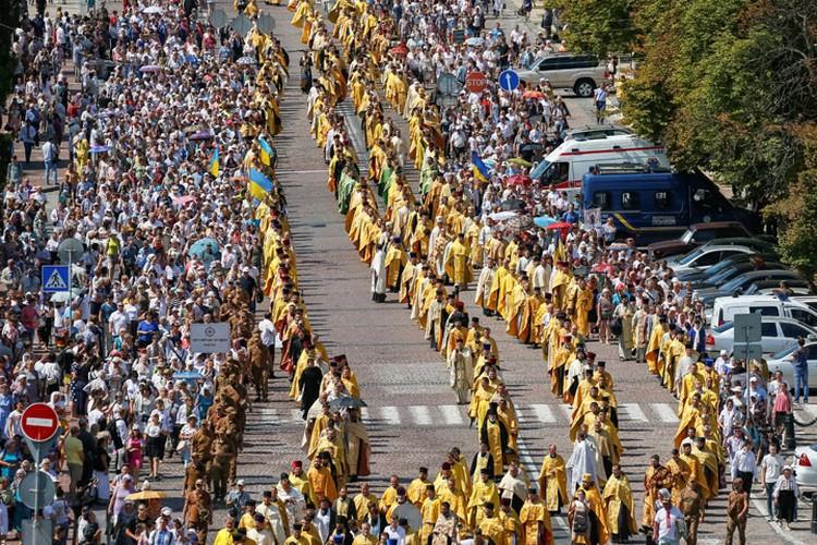 Крестный ход в Киеве 28 июля 2019 года.