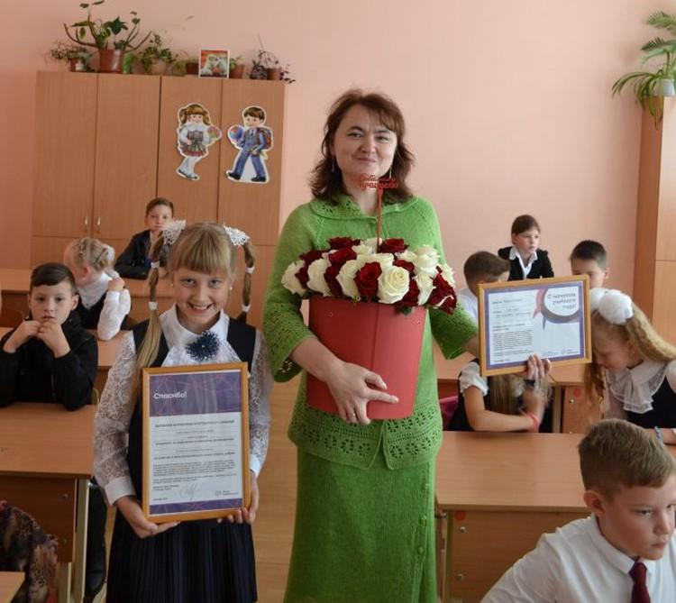 Катя с классным руководителем Фото: Благотворительный Фонд Константина Хабенского