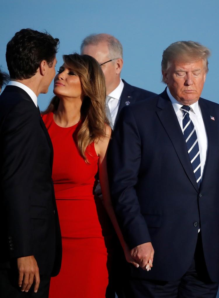 Меланья Трамп поцеловала канадского премьера Джастина Трюдо