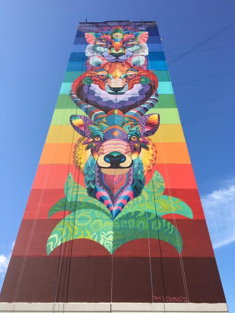 В проекте приняли участие более 80 известных уличных художников из 26 стран мира. Фото: предоставлено организаторами фестиваля Urban Morphogenesis