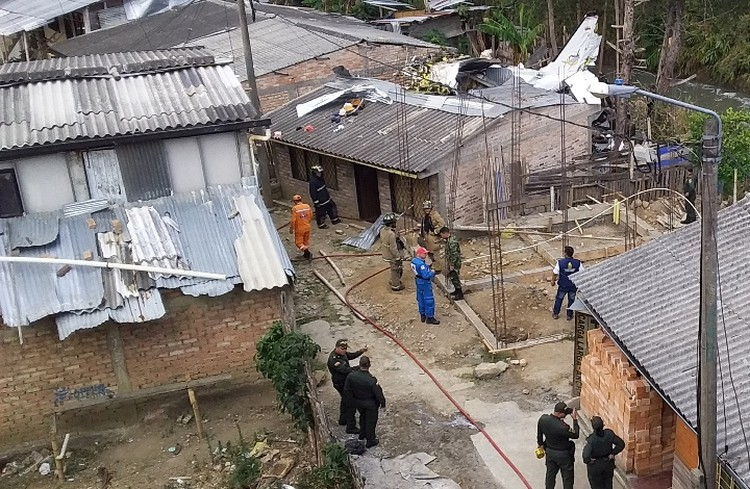 На месте ЧП работают спасатели и полиция