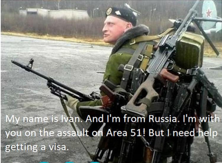 """""""Меня зовут Иван. И я из России. Я с тобой на штурме Зоны 51! Но мне нужна помощь в получении визы"""""""