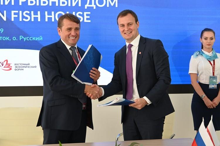 Договор об инвестквотах подписан. Фото: пресс-служба Росрыболовства