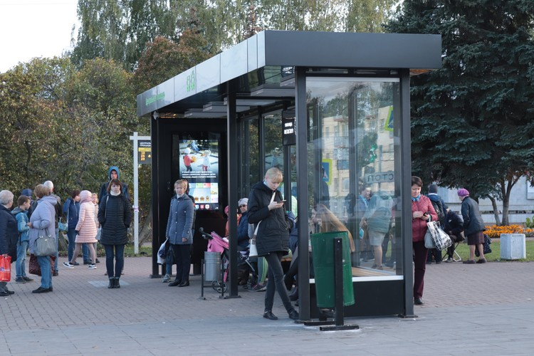 Так выглядит «умная» остановка в Ижевске. Фото: автора