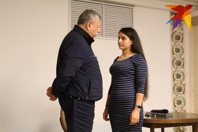 На встрече прошел и мастер-класс по актерскому мастерству