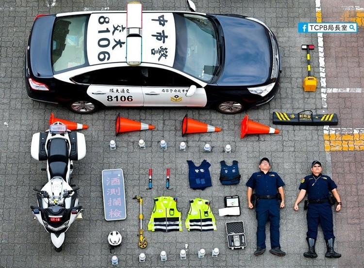 Тайванский дорожный «тетрист». Фото: Официальный «Инстаграм» полиции Тайчжуна