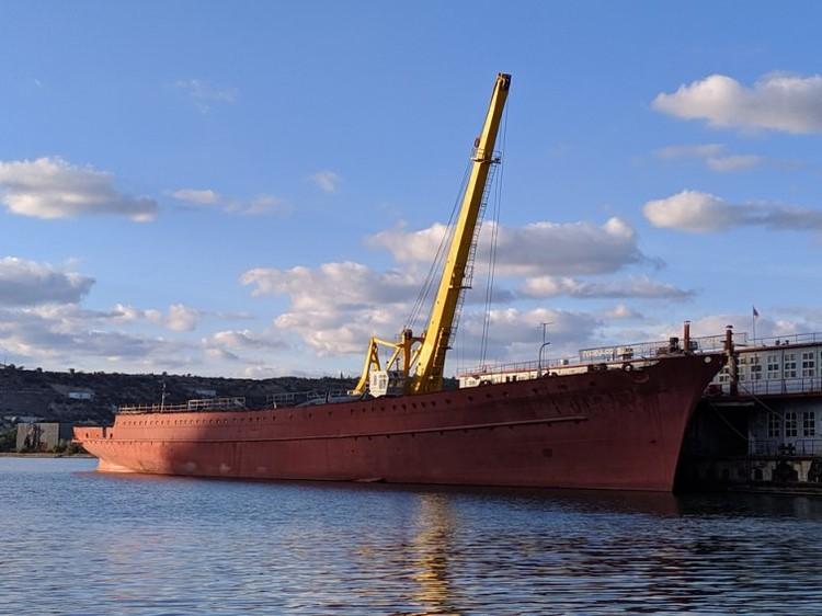 Все, что осталось от корабля, в бухте Инкермана
