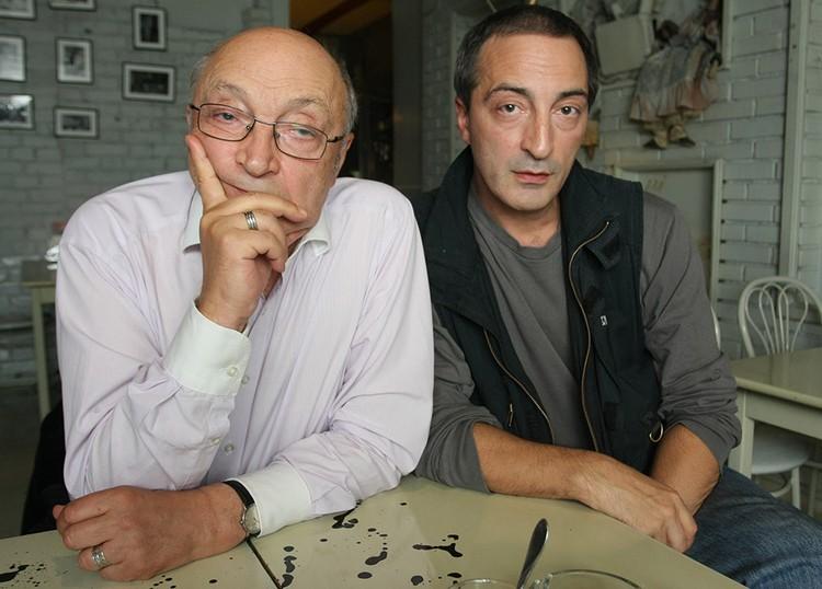 Михаил Козаков с сыном Кириллом.
