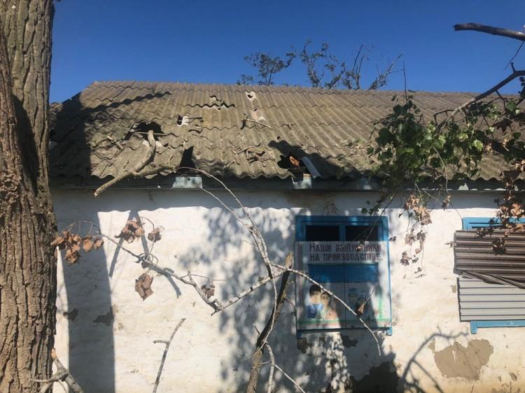 Крыша столовой. Фото: пресс-служба ОНФ