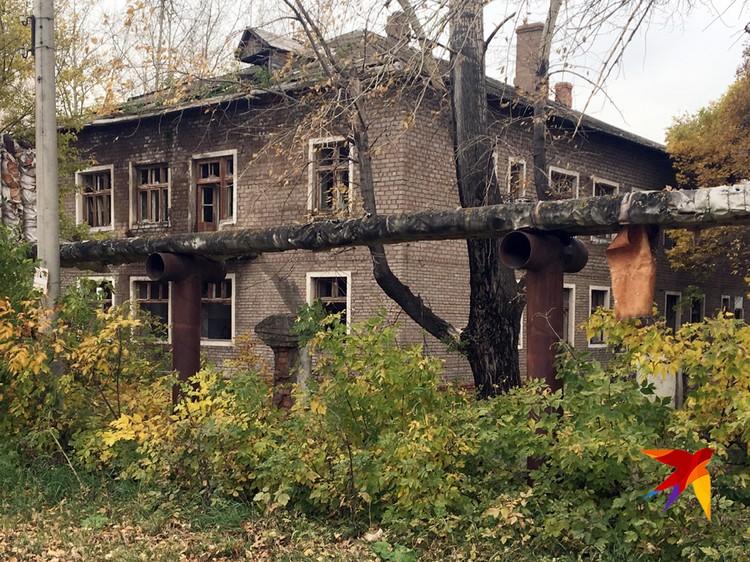 Разрушенная больница.